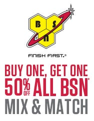 sale: buy one, get one 50% off all BSN products. mix & match